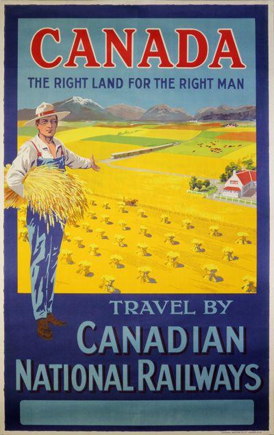 Vintage poster:      Canadian National Railways  by W.Y. Calder