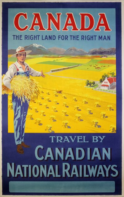 Vintage poster:      Canadian National Railways  by W.Y. Calder