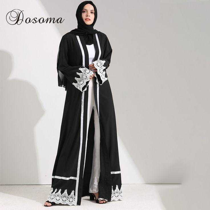 Muslim Women Maxi Dress Open Abaya Lace Jilbab Sashes Long Robe Gowns Cardigan Ramadan Kimono Arab Dubai Thobe Islamic Clothing #Islamic clothing http://www.ku-ki-shop.com/shop/islamic-clothing/muslim-women-maxi-dress-open-abaya-lace-jilbab-sashes-long-robe-gowns-cardigan-ramadan-kimono-arab-dubai-thobe-islamic-clothing/
