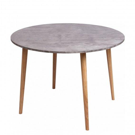 Esstisch Lemmie Gummibaum Massiv Beton Dekor Gummibaum Kuchentisch Und Stuhle Kuche Tisch Esstisch
