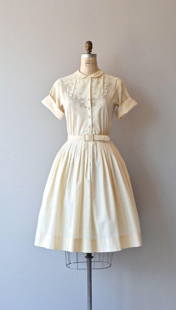 A La Mode dress vintage 1950s dress 50s by DearGolden on Etsy