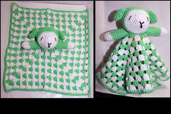 Baby Security Blanket by HazelCrochet on Etsy