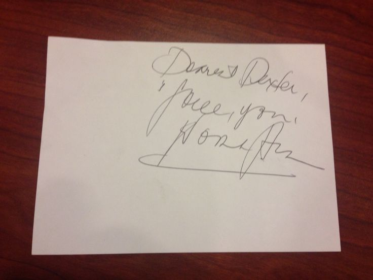 Autograph from Nora Aunor!
