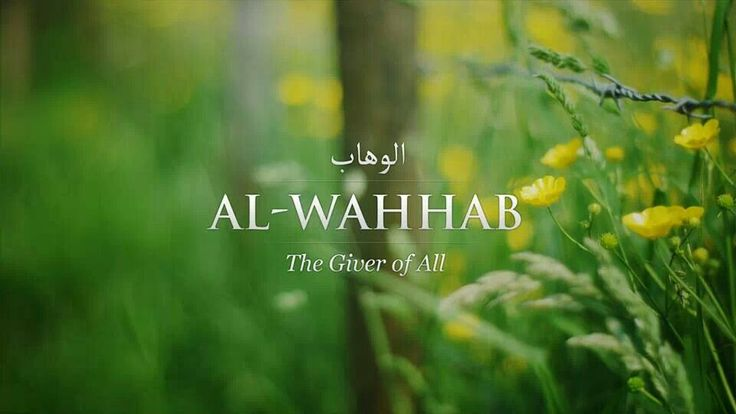 Al-Wahhab The Giver of All. The bestower