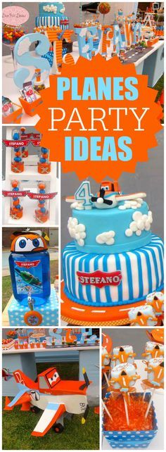 Such a fun Disney Plane's birthday party! See more  party ideas at CatchMyParty.com!