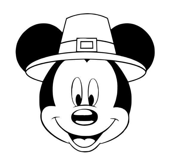 Mickey Thanksgiving Thanksgiving Coloring Pages Minnie