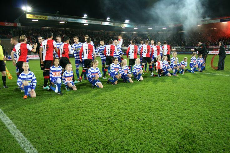 Wedstijd tegen het grote broertje Feyenoord  KNVB beker