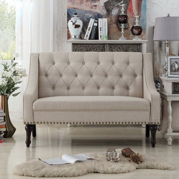 Outstanding Introducing This Christiansburg Tufted Loveseat Gives Off A Caraccident5 Cool Chair Designs And Ideas Caraccident5Info