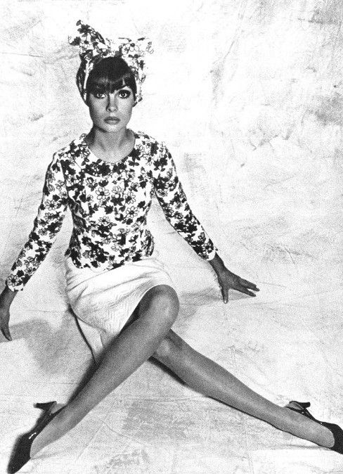 Jean Shrimpton photographed by David Bailey for Vogue UK, April 1965.
