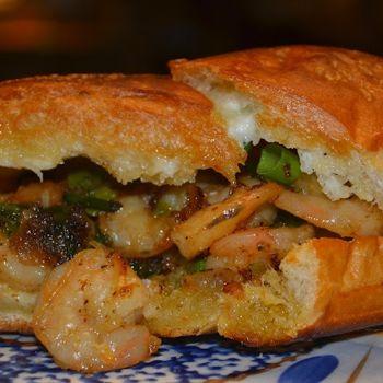 Shrimp Scampi Po' Boys (On Garlic Bread)                              …