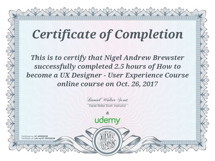 28 best Udemy Certificates and other Qualifications images on - building completion certificate sample