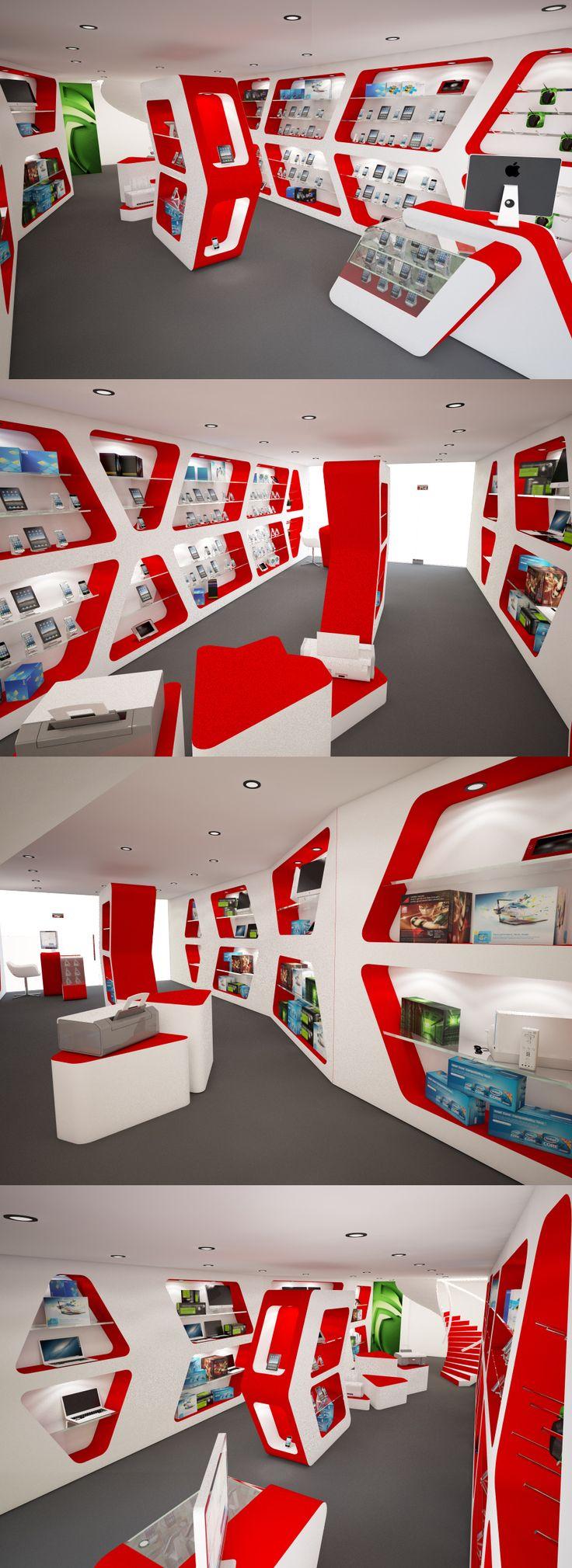 3D interior design of a shop