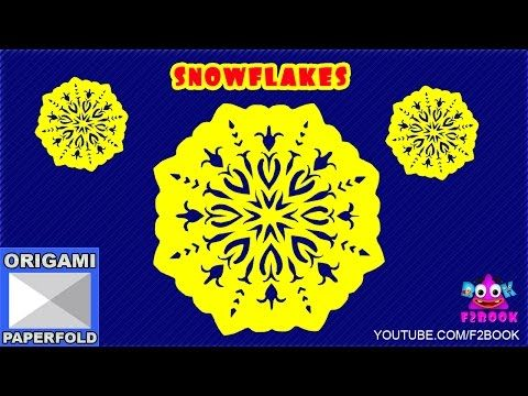 how to make paper snowflakes for kids step by step - By F2BOOK Video 74 - YouTube