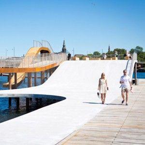 New waterfront promenade in Copenhagen.