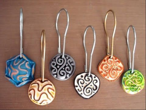 Polymer Clay TV How to Make Molded and Extruded Shower Curtain Rings with Polymer Clay - YouTube