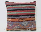urban fabric 18x18 extra large pillow cover kilim pillow red decorative pillow purple throw pillow outdoor pillow cover floral pillow 28347