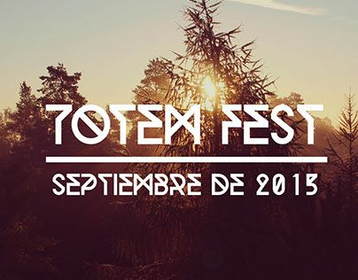 """Check out new work on my @Behance portfolio: """"Totem Fest"""" http://on.be.net/1LPgEfP"""