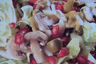 le ricette di chycca: Insalata estiva champignon e melagrana