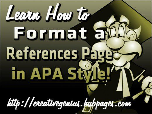 In APA style a References page is a separate page at the end of your paper that includes all of the sources that you've cited throughout your paper. It includes all of the essential information to guide the reader back to a specific source to find additional information. Follow my advice and visual examples to help you create a correct References page.