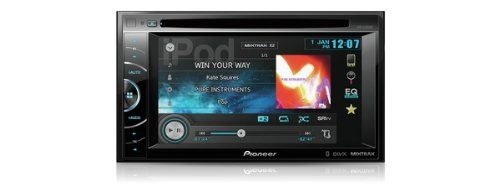 PIONEER AVH X2500BT (PIONEER Audio Visual; Double Din Touchscreen 6.1 inch; Wide Slidetouch Control Radio/CD/DVD/MP3/WMA/AAC Parrot Bluetooth with separate Microphone Siri Control IPOD/IPHONE/Android control(needs CA IW 201S) App Radio mode Mixtrax Navigation Ready(Needs AVIC F250) 3 x 2v Preouts 4 x 50w 8 Band EQ Rear USB and Auxillary input 2 x Video In / Video Out Multicolour Illumination Camera Input Steering wheel control ready ) Check more at…