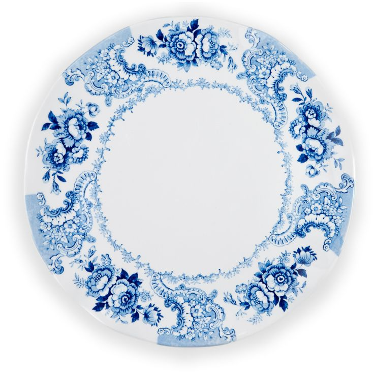 QSquared -- Cambridge Rose Platter in Cobalt