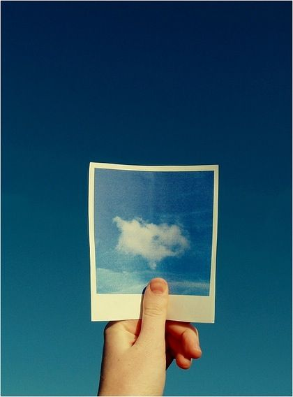 sky blue sky: Ideas, Polaroid Pictures, Blue Pictures, Color, Blue Skies, Blue Sky Cloud, Blue Skiing, Photography, Photo Art