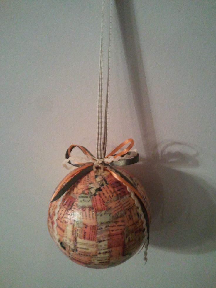 christmas ball with decoupage