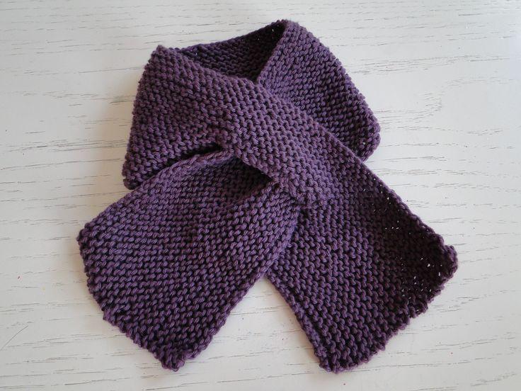 Scarf- Anne-Lotte - DK Rico Baby Cotton Soft Purple - Babies, Girls, Boys