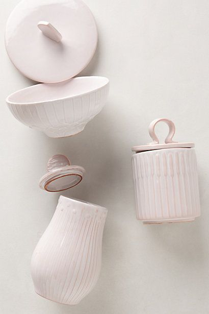 ivory-hued storage for the bathroom...