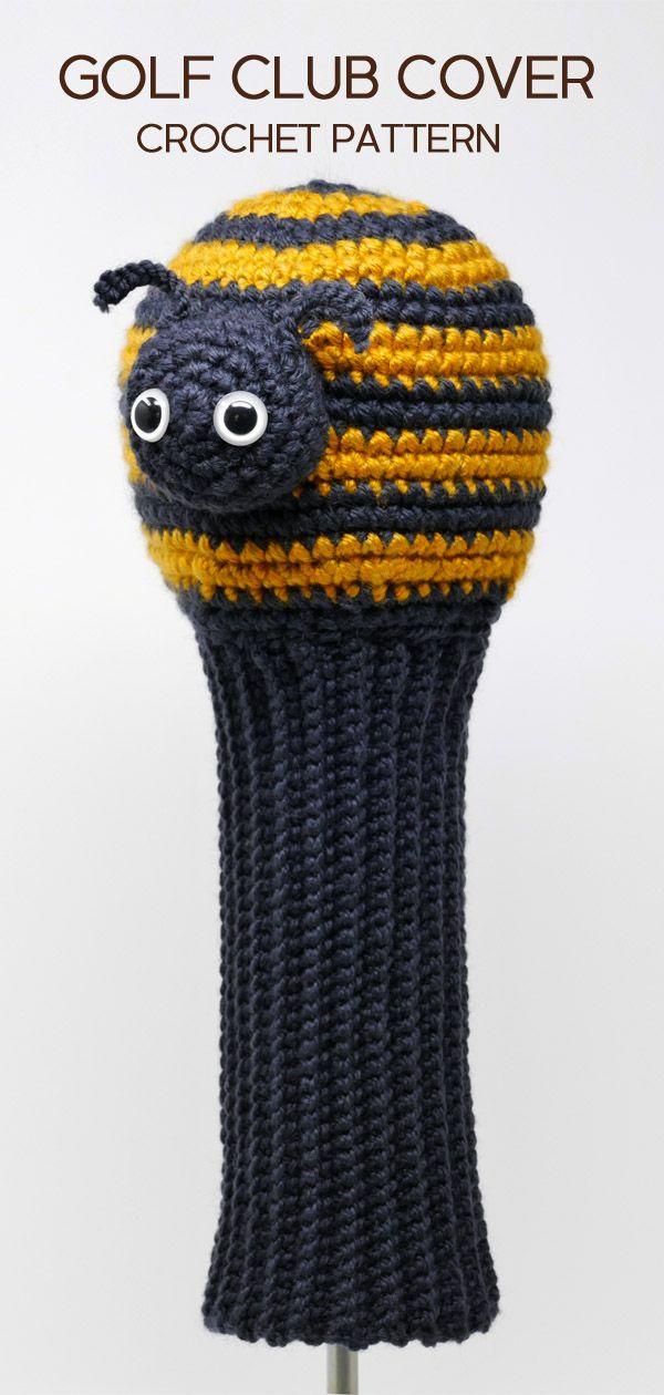 Bee Crocheted Golf Club Cover Pattern From Amigurumi Golf Club