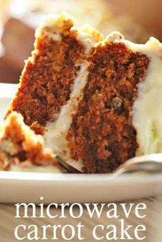 Easy peasy :: Microwave Carrot Cake #recipe