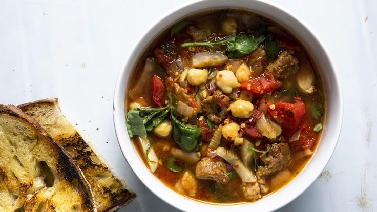 The Healthy-ish Chickpea Soup That, Yep, Still Has Sausage | Bon Appetit