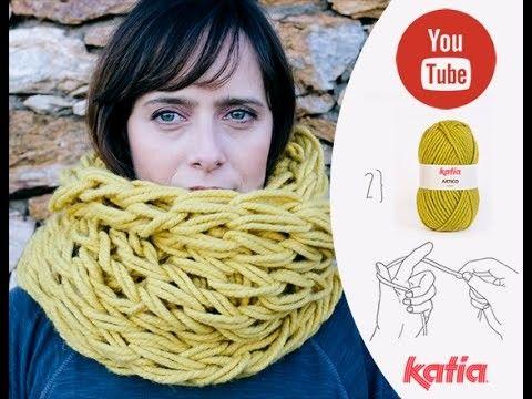 Teje con tus manos cuello Artico · Knit with your hands an infinity scarf
