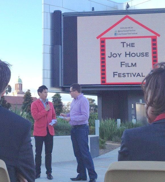 Andy Minh Trieu and Geoff Field - judges for The Joy House Film Festival
