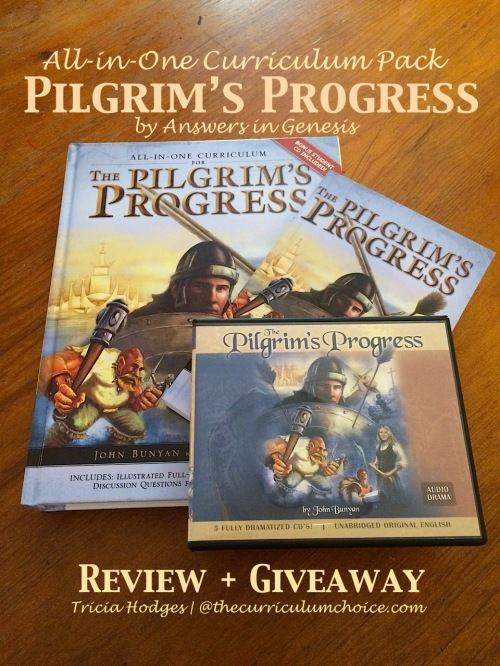 Did you know? Pilgrim's Progress is the best selling book of all time other than the Bible! And we have been enjoying the Pilgrim's Progress All-in-One Curriculum set from Answers in Genesis. ~Don't miss the giveaway at the end!!