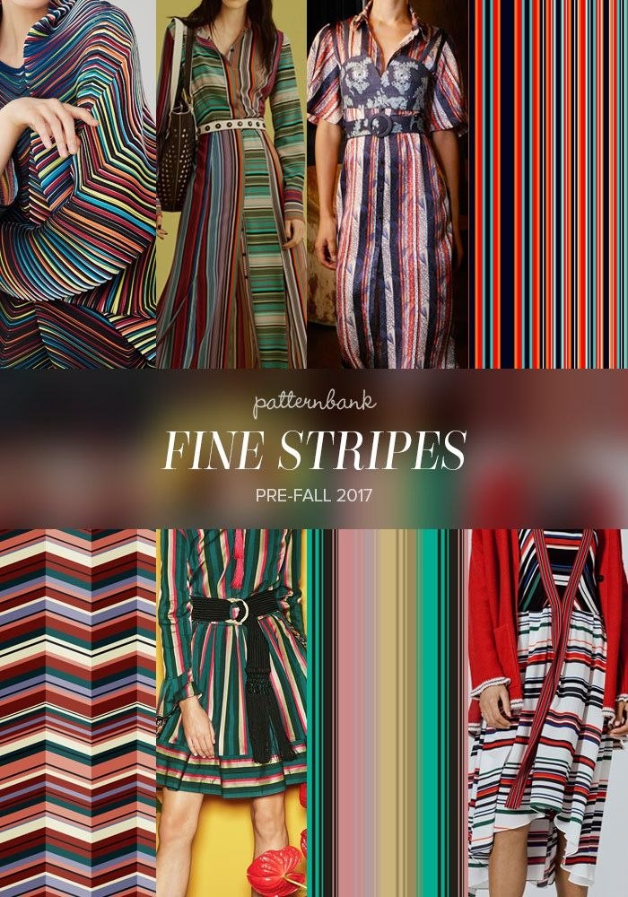 Issey Miyake / Diane Von Furstenberg / Cinq á Sept / Colorful Stripes by PatternDesignTr / Sweet Stripe – Zig Zag by Darja Miklauzic / Etro / 6-Color Asymmetrical Vector Stripe by Becky Bailey / Iceberg