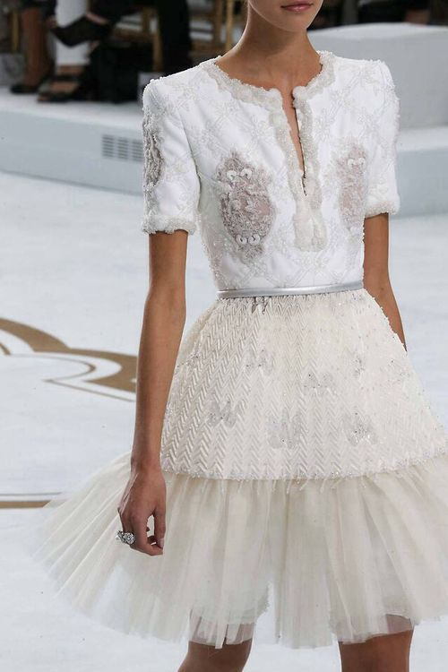 chanel - I wish this piece was emerald green or navy blue and that the tulle went to the floor.