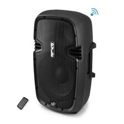 Bluetooth DJ Speakers - PylePro (PPHP1537UB) Bluetooth Loudspeaker PA Cabinet Speaker System Powered 2-Way Full Range Sound Recording Ability USB/SD AM/FM Radio Aux Input 15-Inch 1200 Watt