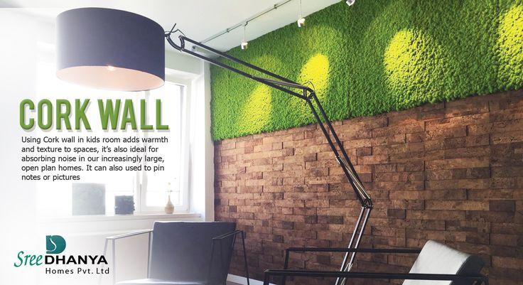 #Cork #Wall : A unique, warm environment and an eco-friendly design element!! #LuxuryBuilder #flats #apartments #Trivandrum #sreedhanyaHomes