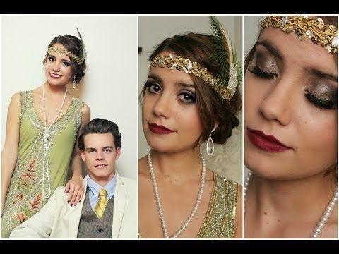 ▶ Flapper|Daisy Buchanan & Gatsby Halloween Tutorial! (Hair,Makeup&Outfit) - YouTube