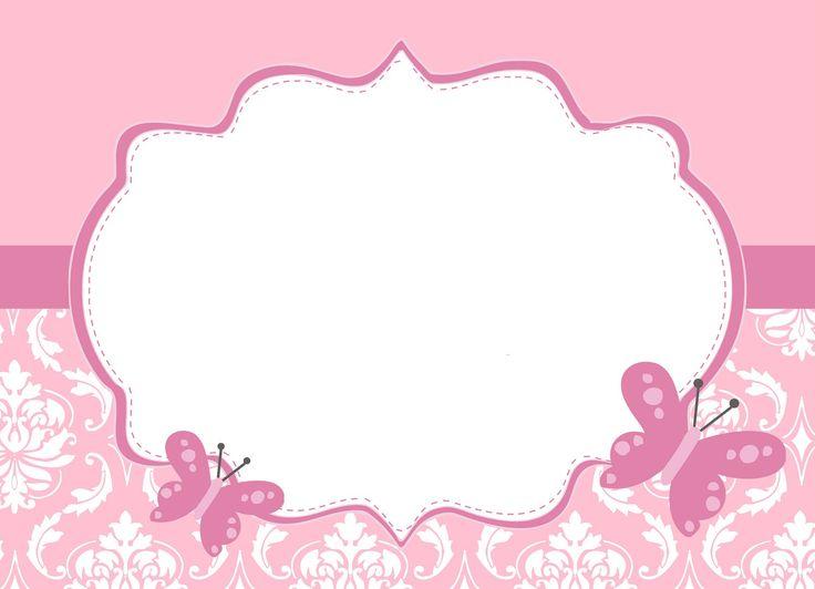 convite cor de rosa