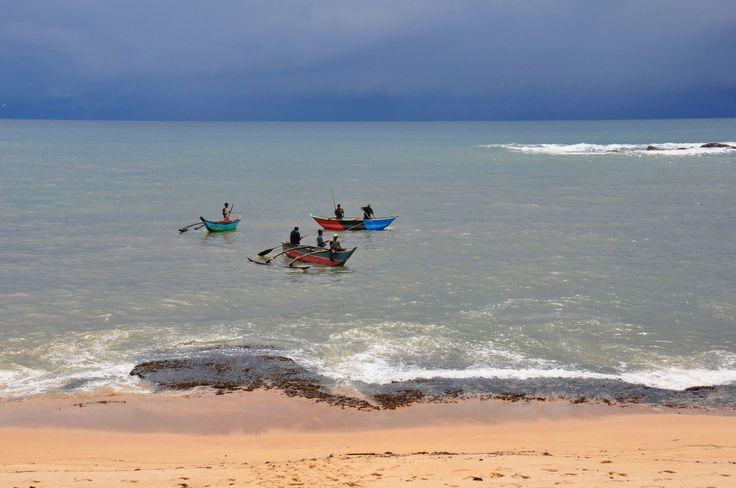 Fishermen near Tangalle in Sri Lanka.