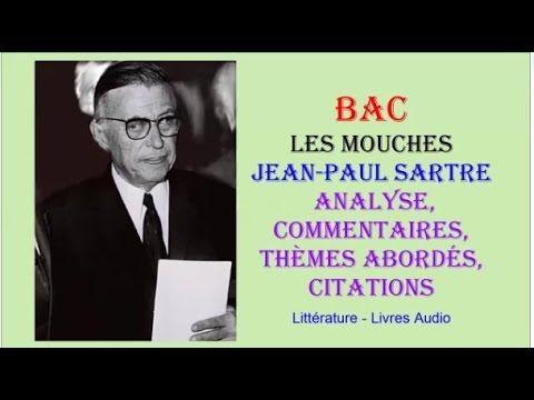BAC - Les Mouches de Jean Paul Sartre, Analyse, commentaires, thèmes abordés, citations - YouTube