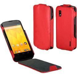 Capa Google Nexus 4 - con Tapa - Cuero Vermelho - 9,99 €