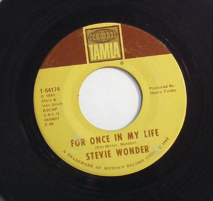 Motown Records 45 RPM | Stevie Wonder - For Once In My Life Records, CDs and LPs