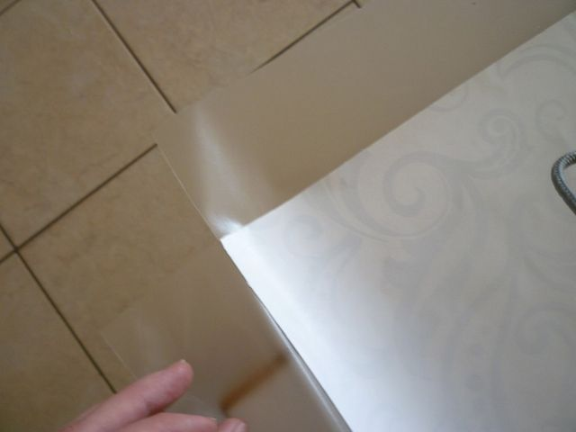 clear contact paper with wrapping paper for drawer liner