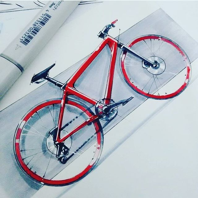 Concept Shimano bike sketch render
