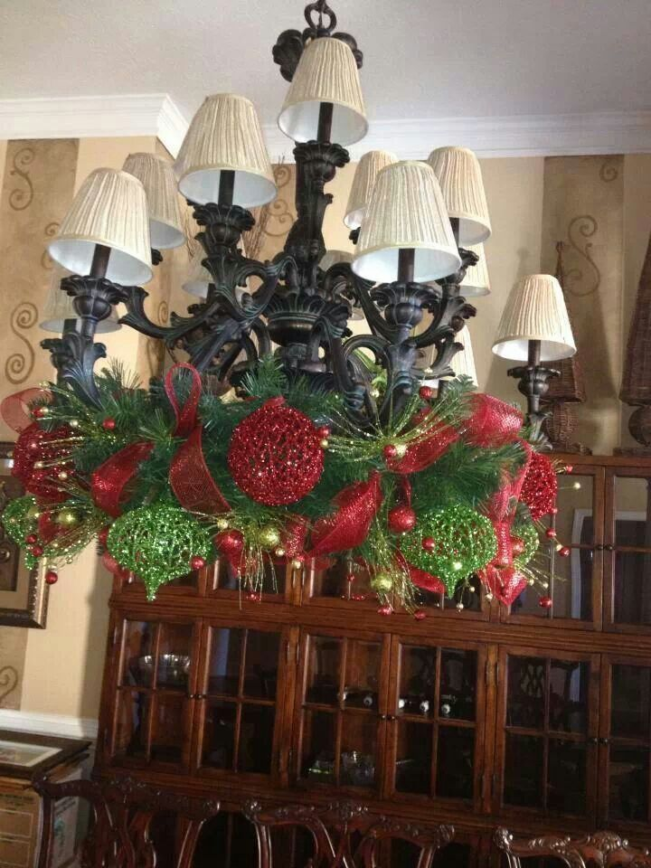 chandelier christmas decorating pinterest