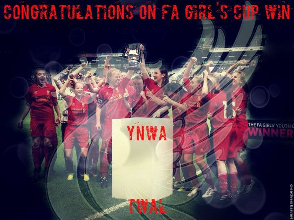 Celebrating the U17s proudest moment... Winning the FA Cup. YNWA