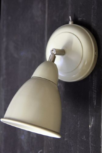 Wall Light with Switch - Clay